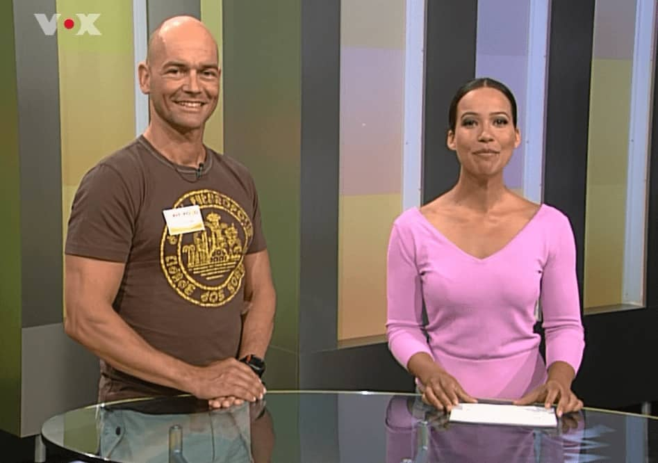 Carsten Mütze on fitfortfun TV mit Moderatorin Nandini Mitra